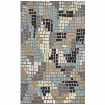 Rizzy Home Pandora Collection Leila Abstract Rugs