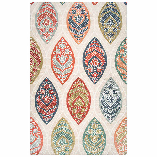 Rizzy Home Resonant Collection Abby Medallion Rectangular Rugs