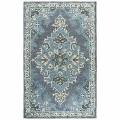 Rizzy Home Resonant Collection Naomi Medallion Rectangular Rugs