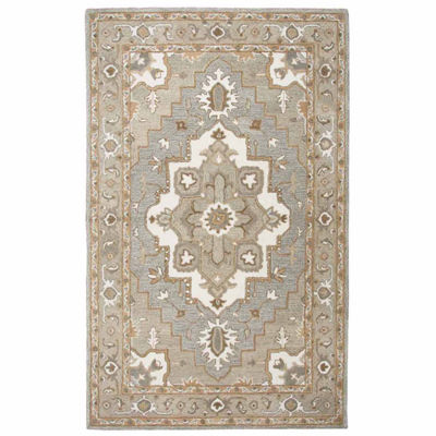 Rizzy Home Suffolk Collection Elaina Medallion Rectangular Rugs