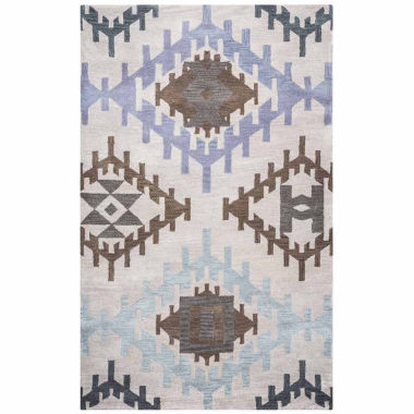 Rizzy Home Tumble Weed Loft Collection Amina Diamond Rectangular Rugs