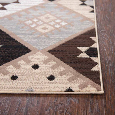 Rizzy Home Xcite Collection Ashlynn Diamond Rectangular Rugs