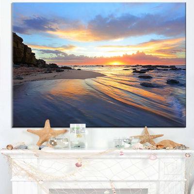Designart Exotic Seashore Sunrise Australia CanvasArt Print