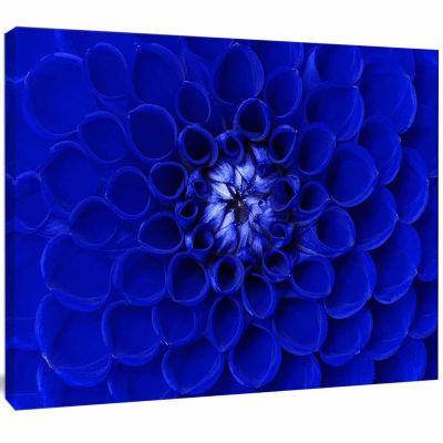 Design Art Abstract Blue Flower Design Canvas Art Print