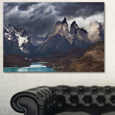 Design Art Torres Del Paine Cuernos Mountains Photography Canvas Art Print