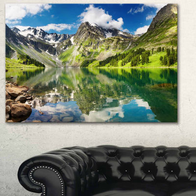 Design Art Reflecting Mountain Lake Landscape Art Print Canvas