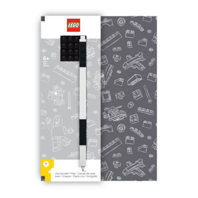 Santoki - LEGO Journal with Black 4x4 Brick + Black Gel Pen
