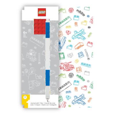 Santoki - LEGO Journal with Red 4x4 Brick + Blue Gel Pen