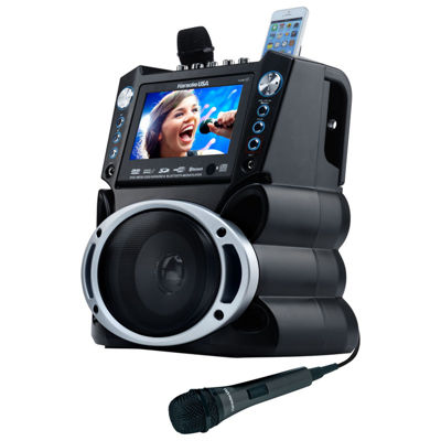 Karaoke USA - DVD/CDG/MP3G Karaoke System with 7 Inch TFT Color Screen, Record and Bluetooth