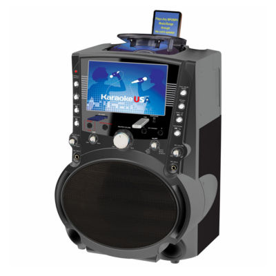 Karaoke USA - GF757DVD/CDG/MP3G Karaoke System with 7 Inch TFT Color Screen and Record Function