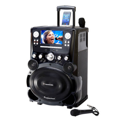 Karaoke USA - Professional DVD/CDG/MP3G Karaoke Player with 7 Inch Color TFT Display and Record Function
