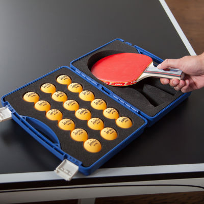 JOOLA Table Tennis Tour Case with 40mm Three-StarCompetition Balls (18 Count)