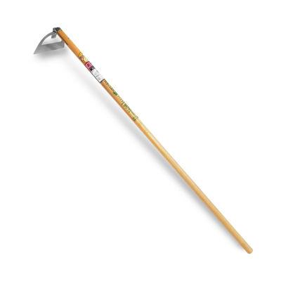 Nisaku Stainless Steel Semi-Long Half Moon Hoe, 6-Inch Blade
