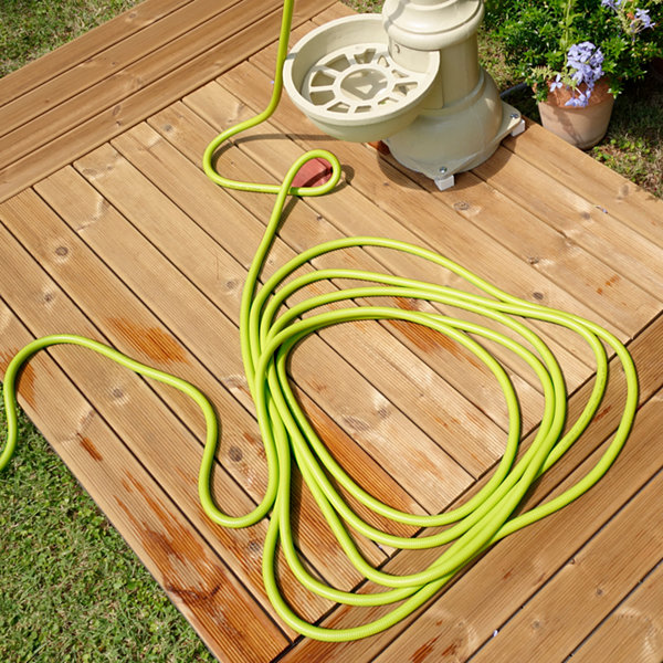 PRO 100-Ft Expandable Gelastex Lightweight Kink-Free Hose w/Quick Connectors
