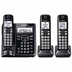 Panasonic KX-TGF543B DECT 6.0 Cordless Telephone with Answering Machine and Dual Keypad - 3 Handsets