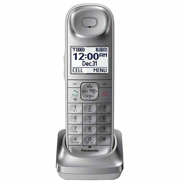 Panasonic KX-TGLA40S DECT 6.0 Additional Digital Cordless Handset for KX-TGL463S - Silver