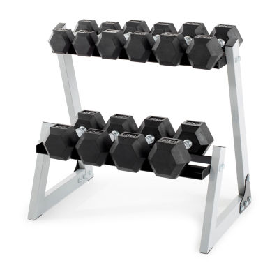 Weider 200 lb Dumbbell Kit with Rack