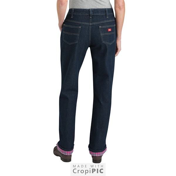 Dickies® Relaxed Straight Flannel Lined Jean - Tall
