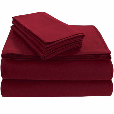 Tribeca Living Heavyweight Solid Flannel Fitted Sheet
