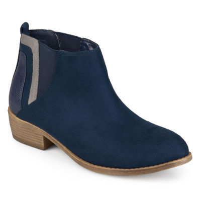 Journee Collection Womens Wiley Bootie Block Heel Zip