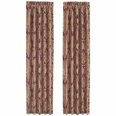 Queen Street Celine 2 Pair Rod-Pocket Curtain Panels