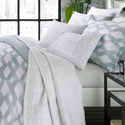 City Scene Addison Microfiber Blue Comforter/Sham Set