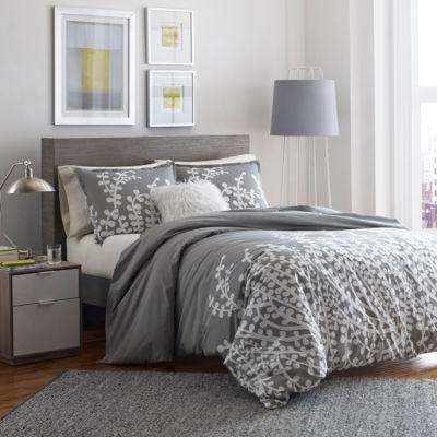 City Scene Branches Grey Comforter Set