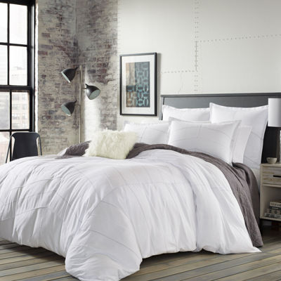City Scene Courtney White Duvet Cover Set