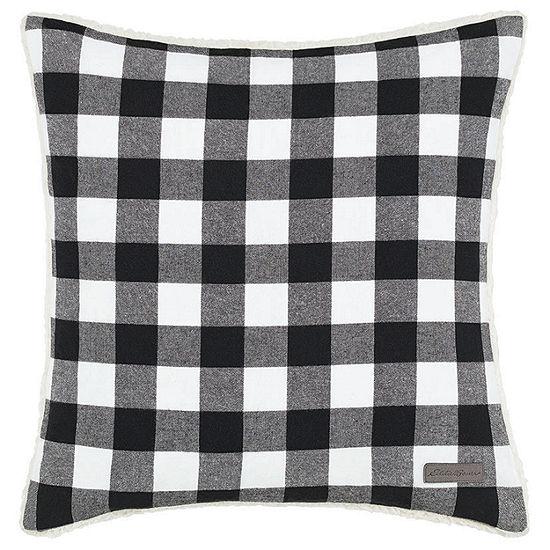 Eddie Bauer Cabin Plaid Square Pillow
