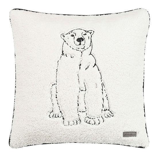 Eddie Bauer Cozy Polar Bear Square Pillow