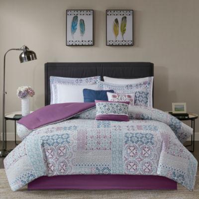 Madison Park Alexandra Cotton Percale 9-pc. Comforter Set