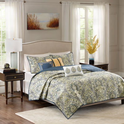 Madison Park Madison Charmeuse 6-pc. Coverlet Set