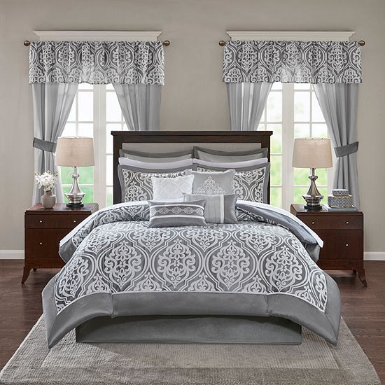 Madison Park Essentials Charley 24-pc. Jacquard Comforter Set