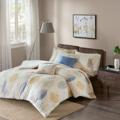 Madison Park Lina Cotton Flannel 7-pc. Duvet Cover Set