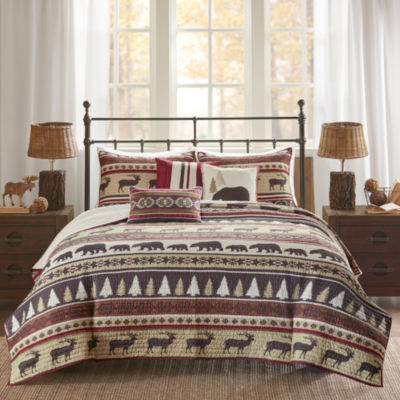 Madison Park Butte Herringbone 6-pc. Coverlet Set