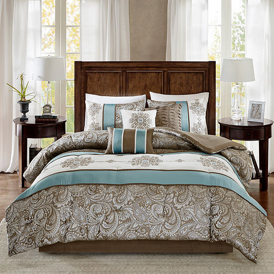 Madison Park Lorraine Jacquard 7-pc. Comforter Set