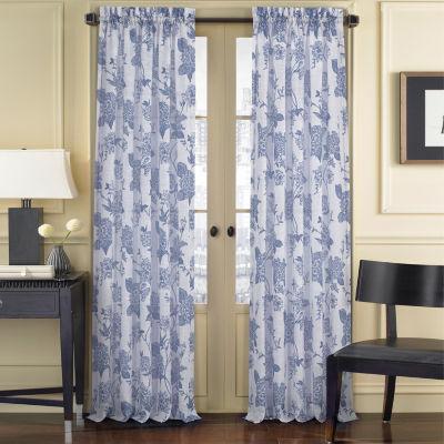 Queen Street Amanda Sheer Rod-Pocket Curtain Panel