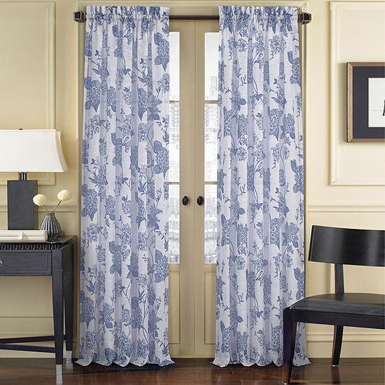 Queen Street Amanda Sheer Light-Filtering Rod-Pocket Curtain Panel