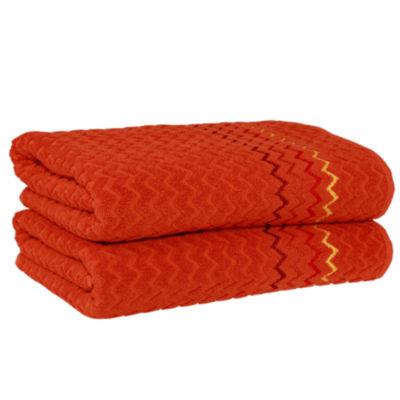Linum Home Textiles Montauk 2-pc. Bath Towel Set