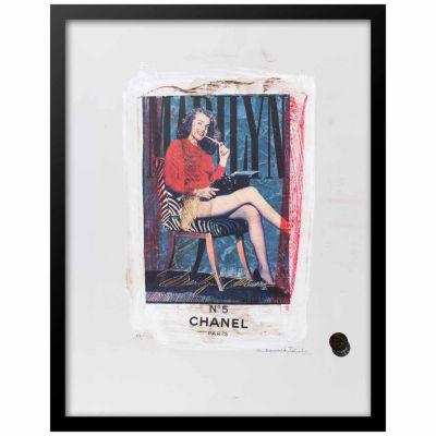 Fairchild Paris Marilyn Monroe Chanel Ad (730) Framed Wall Art