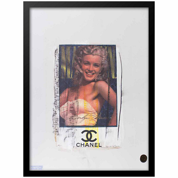 Fairchild Paris Marilyn Monroe Chanel Ad (735) Framed Wall Art