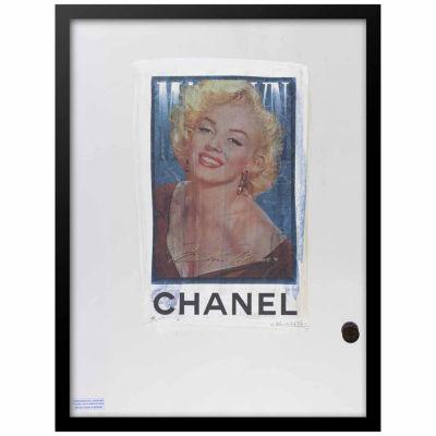 Fairchild Paris Marilyn Monroe Chanel Ad (745) Framed Wall Art