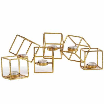 Danya B. Sparkling Gold Six Cube Candle Holder