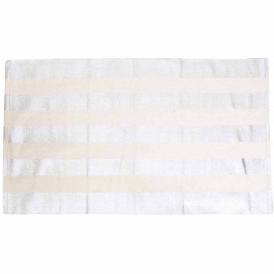 Thro by Marlo Lorenz Cabana Stripe Foil Printed Accent Rug