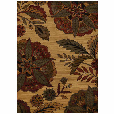 United Weavers Affinity Collection Embroidered Floral Rectangular Rug
