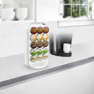 Mind Reader 30-Capacity K-Cup® Storage Carousel, White