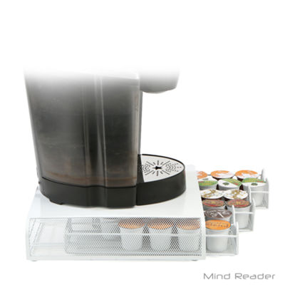 Mind Reader Triple Drawer Mesh K-Cup® Coffee Pod Drawer, White