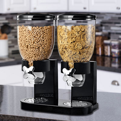 Honey-Can-Do® Double Cereal Dispenser with Portion Control