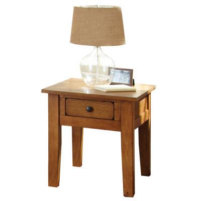 Maisie End Table-Oak