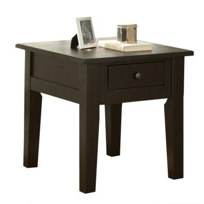 Maisie End Table-Black